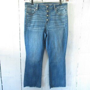 New American Eagle Jeans High Rise Crop Flare